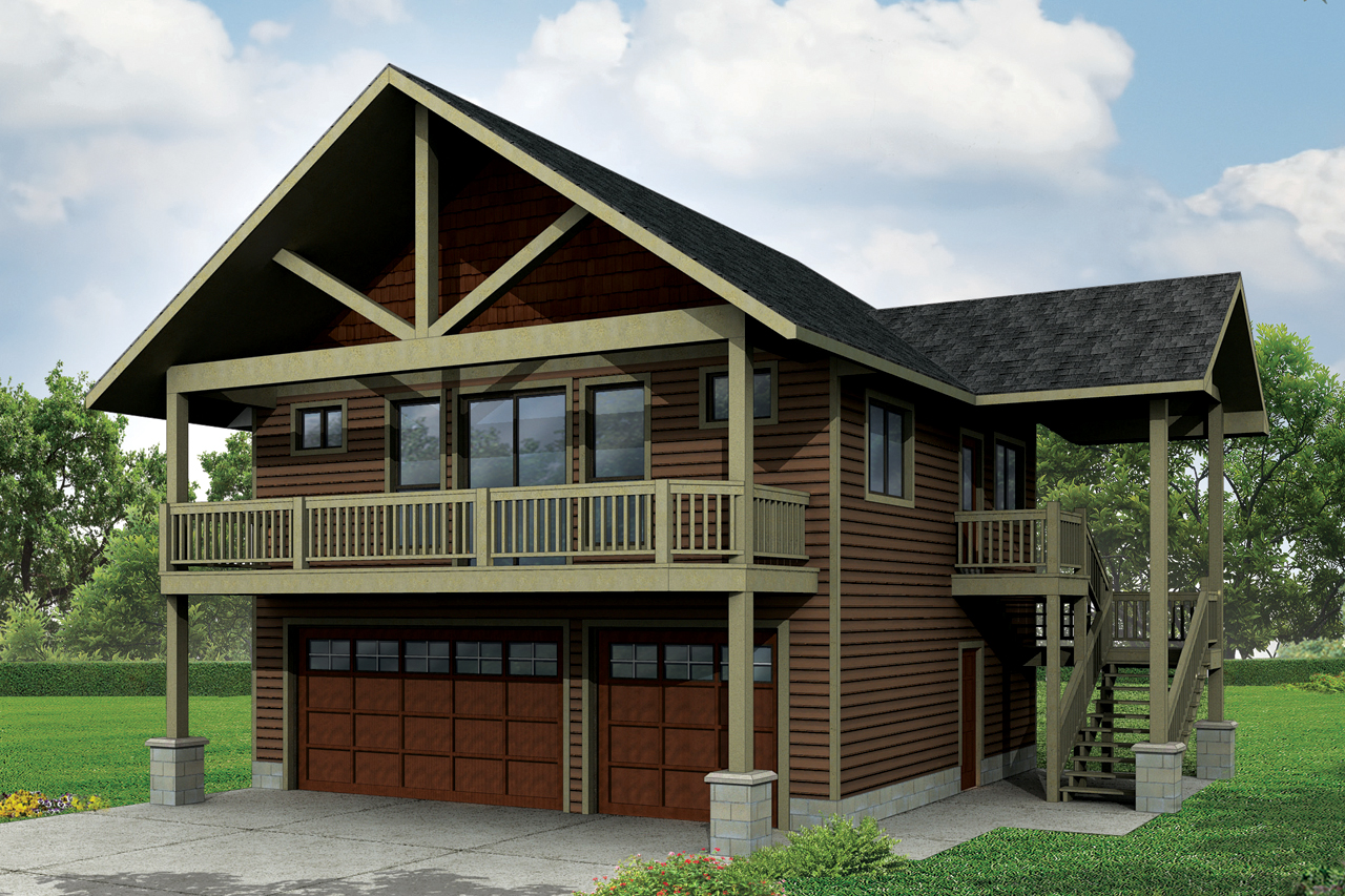 Craftsman House Plans  Garage Wapartment 20152