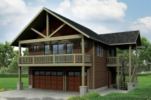 Craftsman House Plans - Garage Withapartment 20-152