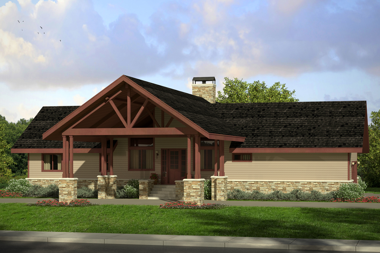 Lodge Style House Plans  Spindrift 31016  Associated Designs