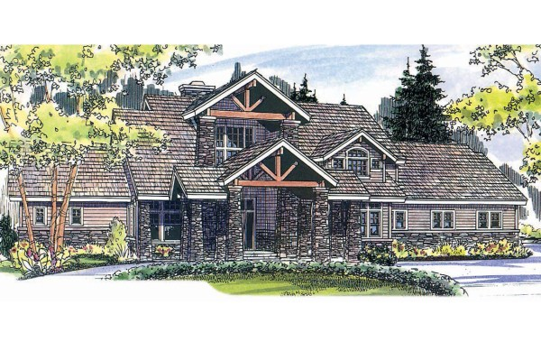 Lodge Style House Plans - Timberfield 30-341