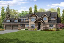 Lodge Style House Plans - Timberline 31-055
