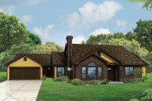 House Plan for Ranch Home Front