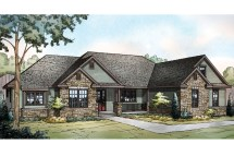 Ranch House Plans - Manor Heart 10-590 Design