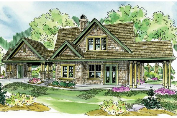 Shingle Style House Plans - Longview 50-014