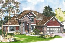 Traditional Home Front of House Plan