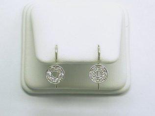 custom diamond circle earrings