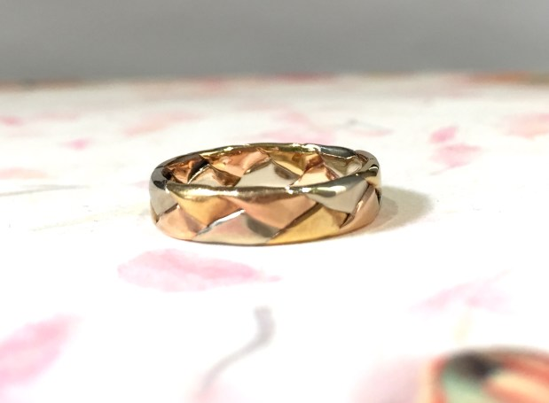 # 214 Rose White And Yellow Gold Band