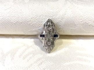 DR 2691 Art Deco 18K Filigree Ring