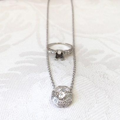 Reset Diamond Into Vintage Style Pendant