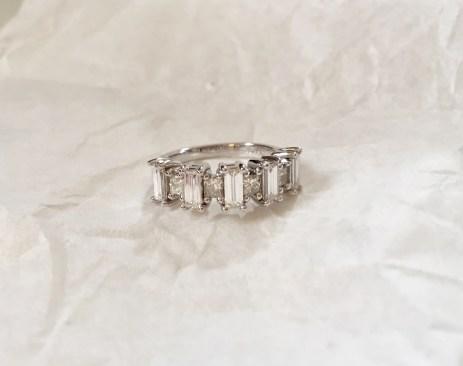 Baguette & Princess Cut Diamond Wedding Band
