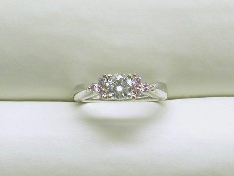 custom pink diamond ring