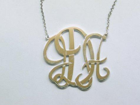 monogrammed initial pendant