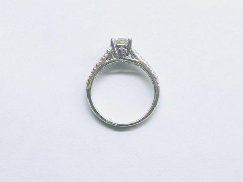 custom tanzanite & diamond engagement ring