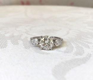 Custom Designed 3 Stone Ring
