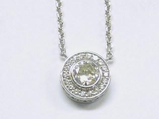 custom halo pendant