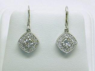 custom halo style earrings