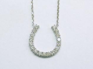 custom horseshoe pendant
