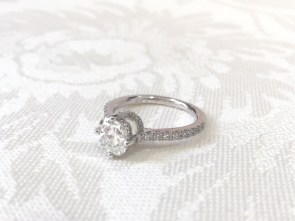 Engagement Ring With A Double Under Besel