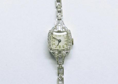 lvw-208 Ladies platinum vintage watch