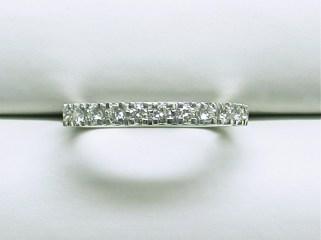 wb-1565 Wedding band with 11 diamonds, 18K white gold