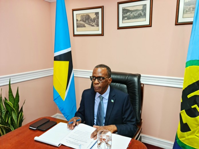 Prime Minister of St Lucia Philip J Pierre