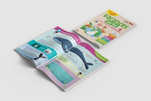 Cahier de vacances écolo visuel baleine bleue