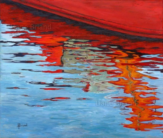 Coques rouges - 65x54cm ©Liane Briand