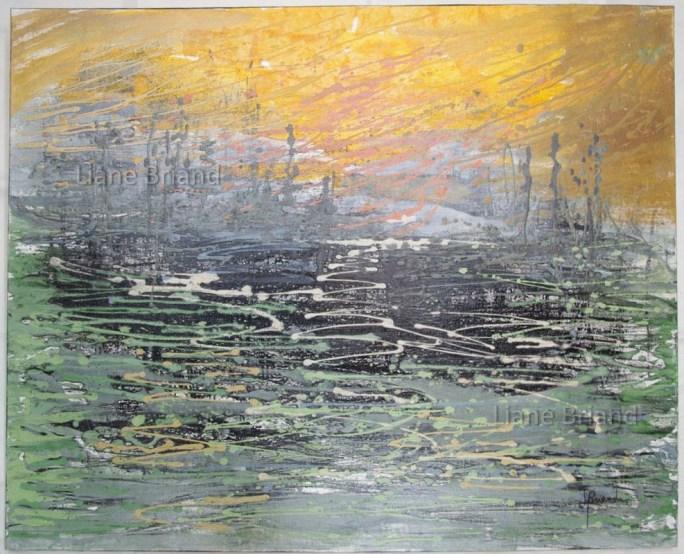 Inspiration soleil levant Monet-81x100cm ©Liane Briand