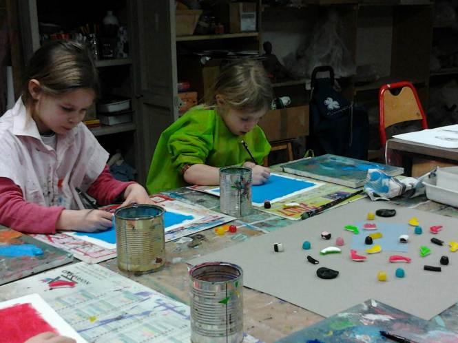 association le sablier - atelier arts plastiques - enfants