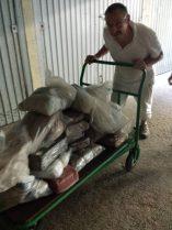300kg de terre à acheminer