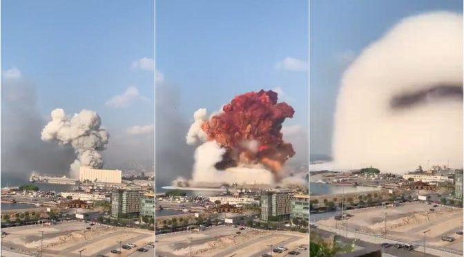 La Coordination et l'explosion à BEYROUTH.
