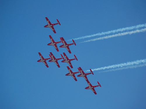 Flying in formation; Photo by commorancy