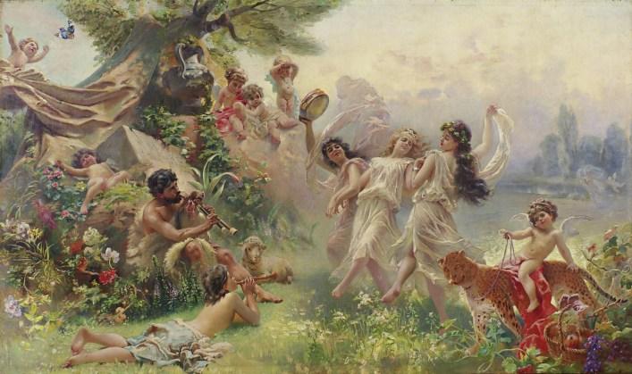 Felice Arcadia, Kostanin Makovsky (1838 – 1915), 1890; collezione privata