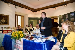 Lorenzo Spurio, Presidente della Ass. Euterpe, nel suo discorso introduttivo