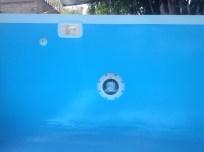 Cenefa blanca y reflector sub acuático de LED´s