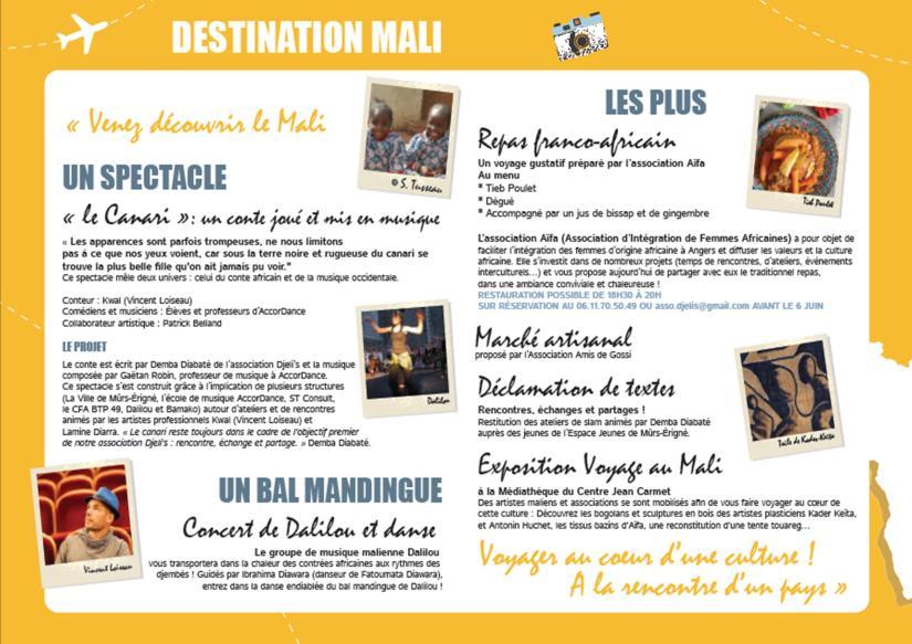 Programme - Voyage au Mali