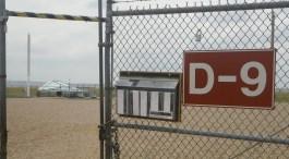 Entrance gate to the Delta-09 silo facility. (c) J.S. Reinitz 2013