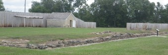 Foundation of the east officers' quarters at Fort Atkinson. (c) 2015 J.S.Reinitz