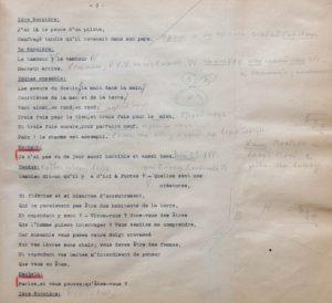 Cahier de régie pour Macbeth, fonds Pitoëff