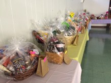 This photo doesn't do justice to the number and quality of baskets featured at the event.