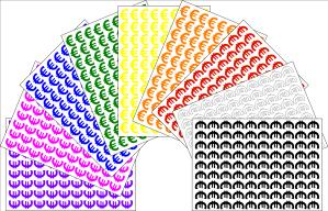 Self Adhesive Euro Symbol Sticker