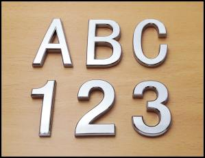 Chrome Letters and Numbers