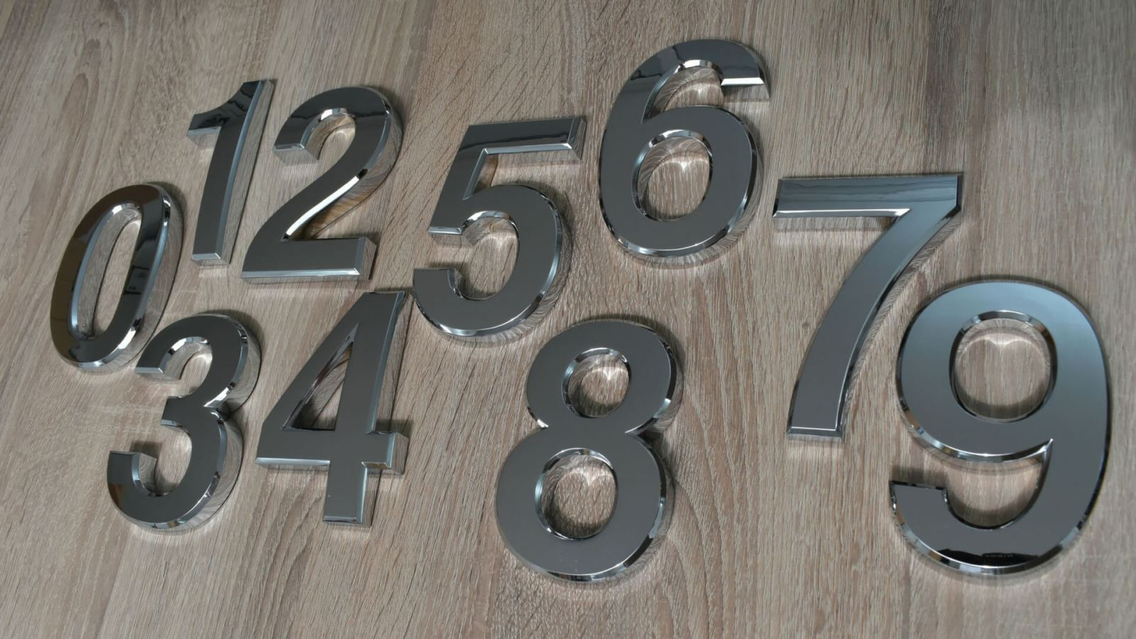 12cm curved numbers