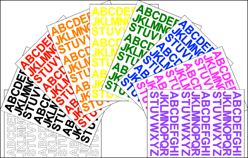 Alphabet Stickers computer cut