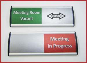 Meeting Room Sliding Sign