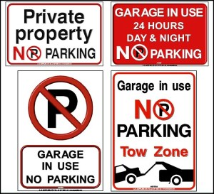 No Parking Stickers