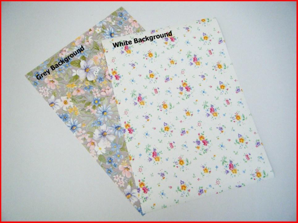 A4 White Floral Vinyl
