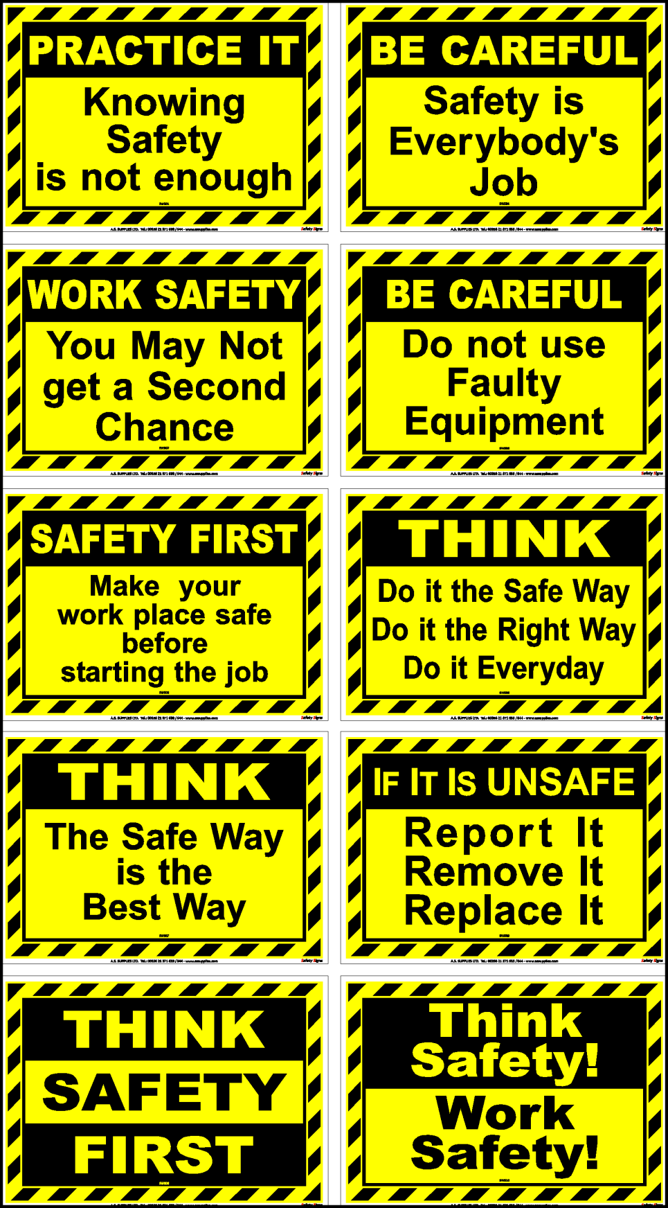 waterproof Health and Safety sign