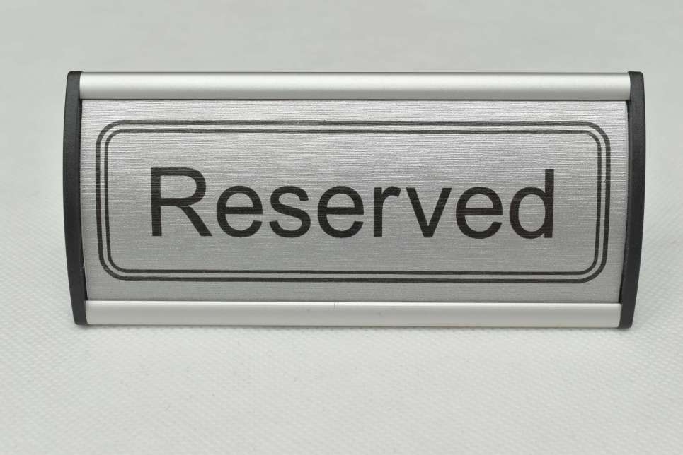 Reserved Free-Standing Aluminium Signs