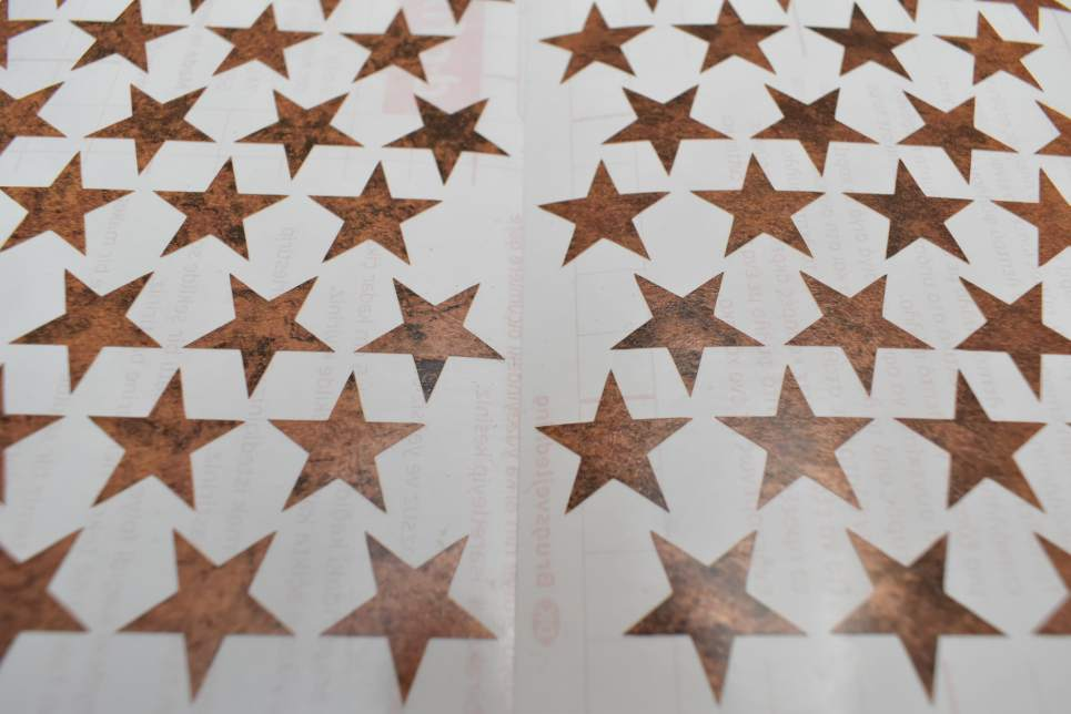 Vintage Copper Star Stickers